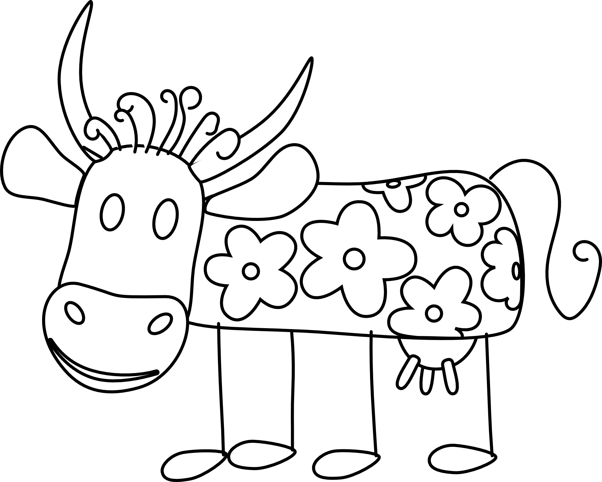 Kühe kennenlernen  Informationen und Malvorlagen für Kinder ✓